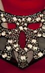 Fiorella Embellished Neck Bodycon Dress Thumbnail