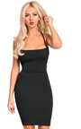 Jenna Strappy Lace Up Bodycon Dress Thumbnail