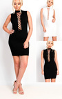 Marivtz Lace Up Bodycon Dress Thumbnail