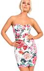 Cecilia Floral Bandeau Bodycon Dress Thumbnail