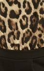 Denise Leopard Print Black Short Playsuit Thumbnail