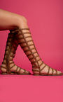 Kendall Caged Gladiator Studded Sandals Thumbnail