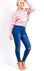 Kara High Waisted Ripped Skinny Jeans Thumbnail