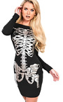 Skeleton Metalic Fancy Dress  Thumbnail