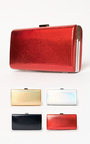 Anneke Croc Metallic Clutch Bag Thumbnail