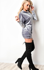 Briella Velour Oversized Jumper Thumbnail