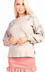Cheryl Knitted Star Embellished Jumper  Thumbnail