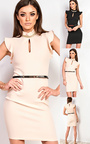 Annetta Frill Diamante Neckline Dress  Thumbnail