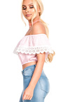 Hailey Bardot Gingham Frill Top Thumbnail