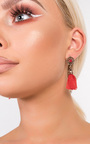 Valenciaga Tassel Jewel Earrings  Thumbnail