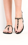 Christy Faux Suede Studded Sandals Thumbnail