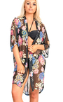 Rozza Mesh Floral Print Kimono Thumbnail