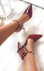 Valena Multi Strap T-Bar Studded Court Heels Thumbnail