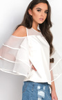 Serenity Frill Layered Cut Out Top Thumbnail