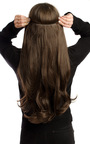 Intense Volume Clip In Hair Extensions - Flicky Choc Brown  Thumbnail