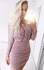 Oceana Gathered Bodycon Dress  Thumbnail