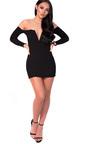 Nicky Long Sleeve Bardot Luxe Bandage Dress Thumbnail