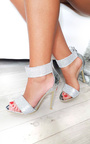 Arianna Diamante Strap Barely There Heels Thumbnail