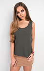Salima Scalloped Vest Top  Thumbnail