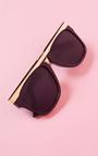 Florita Gold Bar Black Sunglasses Thumbnail