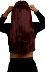 Intense Volume Clip In Hair Extensions - Flicky Burgundy Thumbnail