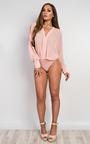 Lila Chiffon Bodysuit  Thumbnail