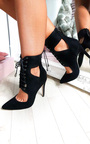 Alexandra Lace up Corset Heels Thumbnail