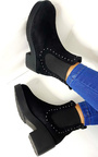Faye Studded Chelsea Faux Suede Ankle Boots Thumbnail