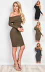 Caitlyn Off Shoulder Bodycon Dress Thumbnail