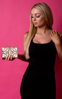 Arly Geometric Bow Clutch Bag  Thumbnail