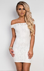 Cali Off Shoulder Lace Dress Thumbnail
