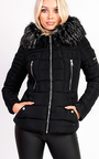 Carolina Padded Faux Fur Hooded Jacket Thumbnail