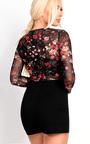 Jessi Mesh Floral Print Playsuit Thumbnail