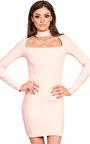 Ravenna Choker Neck Bodycon Dress Thumbnail