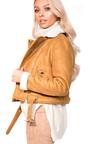 Becci Biker Faux Suede Fur Jacket Thumbnail