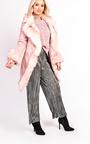 Toula Faux Suede Fur Longline Jacket Thumbnail