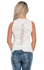 Trish Lace Back Chiffon Vest Top Thumbnail