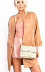 Liah Quilted Gold Studded Shoulder Bags Thumbnail