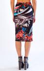 Hazel Butterfly Print Midi Skirt Thumbnail