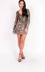 Mollie Long Sleeved Sequin Dress Thumbnail