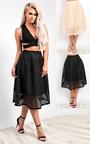 Helena Textured Stripe Circle Skirt  Thumbnail