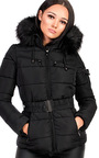 Hadid Padded Faux Fur Hooded Jacket Thumbnail