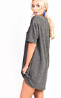Zari Metallic Short Sleeved Slogan Dress Thumbnail
