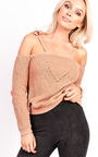 Piper Cold Shoulder Knitted Top Thumbnail