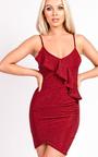 Rosie Cami Shimmer Bodycon Frill Dress Thumbnail