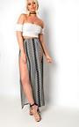 Ibiza Double Thigh High Split Maxi Skirt Thumbnail