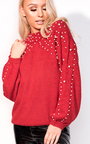 Anna Beaded Knitted Jumper Thumbnail