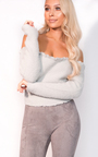 Tianna Cropped Bardot Knit Jumper  Thumbnail