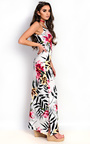 Brianna Floral Slit Side Maxi Dress Thumbnail