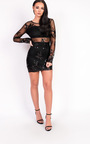 Kelly Mesh Sequin Bodycon Dress Thumbnail